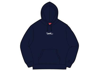 Supreme Tag Logo Hooded Sweatshirt Navyの写真