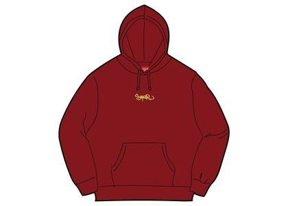 Supreme Tag Logo Hooded Sweatshirt Cardinalの写真