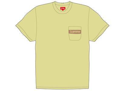 Supreme Mesh Stripe Pocket Tee Pale Yellowの写真
