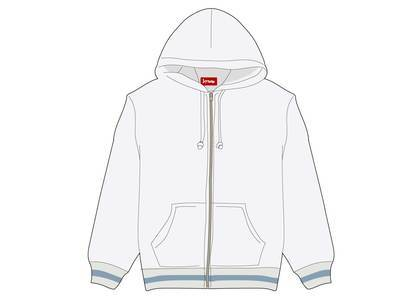 Supreme Old English Stripe Zip Up Sweatshirt Whiteの写真