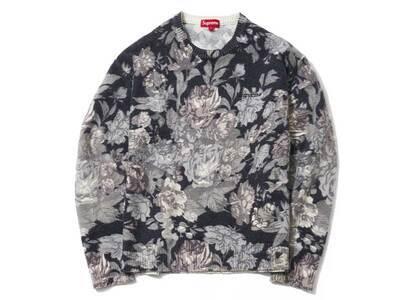 Supreme Printed Floral Angora Sweater Blackの写真