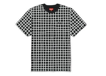 Supreme Grid Jacquard S-S Top Blackの写真