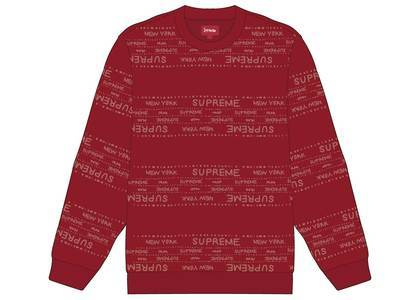 Supreme Metallic Jacquard Crewneck Redの写真