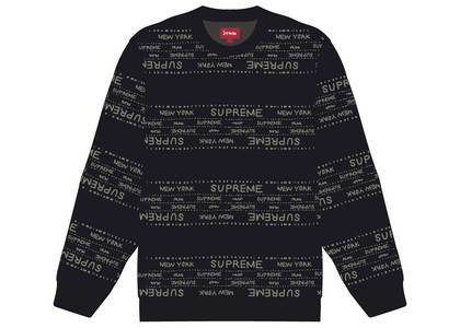 Supreme Metallic Jacquard Crewneck Blackの写真