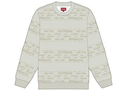 Supreme Metallic Jacquard Crewneck Whiteの写真