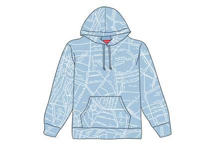 Supreme Gonz Embroidered Map Hooded Sweatshirt Columbia Blueの写真