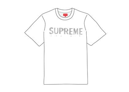 Supreme Gradient Logo Tee Whiteの写真