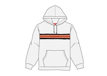 Supreme Chest Stripe Logo Hooded Sweatshirt Ash Greyの写真