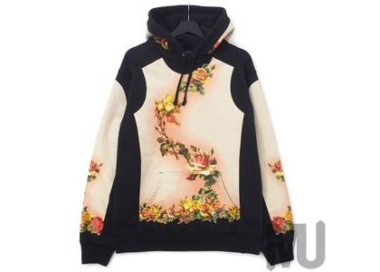 Supreme Jean Paul Gaultier Floral Print Hooded Sweatshirt Blackの写真