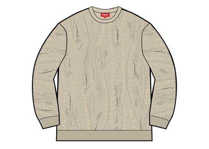 Supreme Textured Pattern Sweater Creamの写真