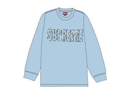 Supreme International L-S Tee Light Blueの写真