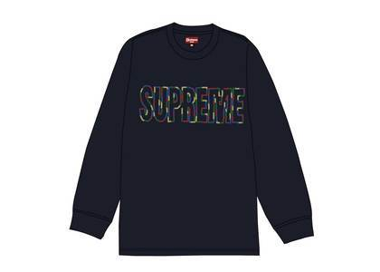 Supreme International L-S Tee Navyの写真