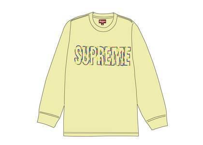 Supreme International L-S Tee Pale Yellowの写真