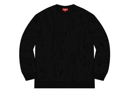 Supreme Textured Pattern Sweater Blackの写真