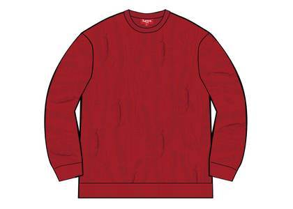 Supreme Textured Pattern Sweater Redの写真
