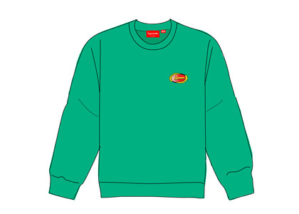 Supreme Chain Logo Crewneck Greenの写真
