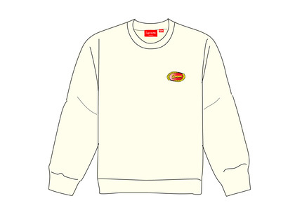 Supreme Chain Logo Crewneck Naturalの写真