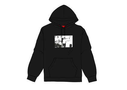 Supreme Classic Ad Hooded Sweatshirt Blackの写真