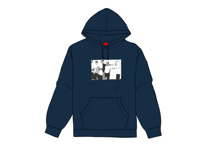 Supreme Classic Ad Hooded Sweatshirt Navyの写真