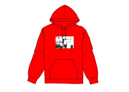 Supreme Classic Ad Hooded Sweatshirt Redの写真