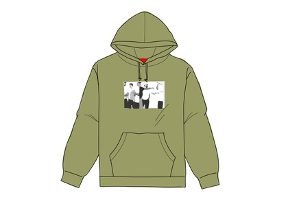Supreme Classic Ad Hooded Sweatshirt Light Oliveの写真