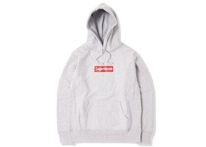 Supreme Swarovski Box Logo Hooded Sweatshirt Heather Greyの写真