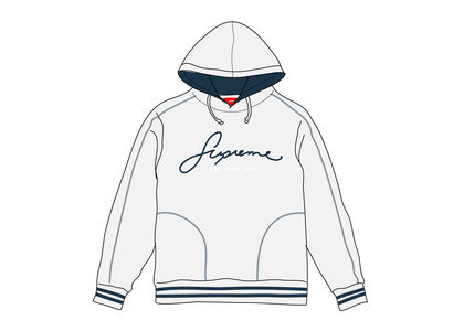 Supreme Contrast Embroidered Hooded Sweatshirt Iceの写真