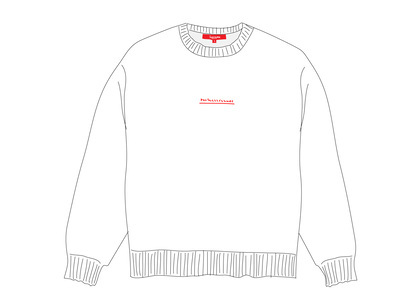 Supreme Fuck Everybody Sweater Whiteの写真