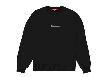 Supreme Fuck Everybody Sweater Blackの写真