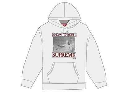 Supreme Know Thyself Hooded Sweatshirt Whiteの写真