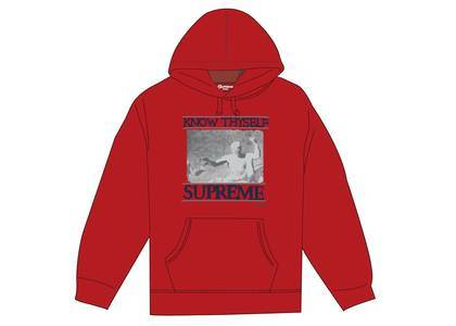 Supreme Know Thyself Hooded Sweatshirt Redの写真