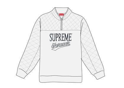 Supreme Forever Half Zip Sweatshirt Ash Greyの写真