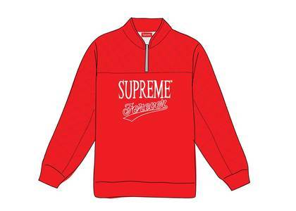 Supreme Forever Half Zip Sweatshirt Redの写真