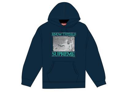 Supreme Know Thyself Hooded Sweatshirt Navyの写真