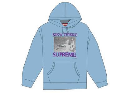 Supreme Know Thyself Hooded Sweatshirt Light Blueの写真