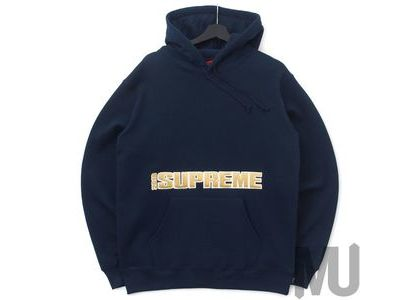 Supreme Blockbuster Hooded Sweatshirt Navyの写真
