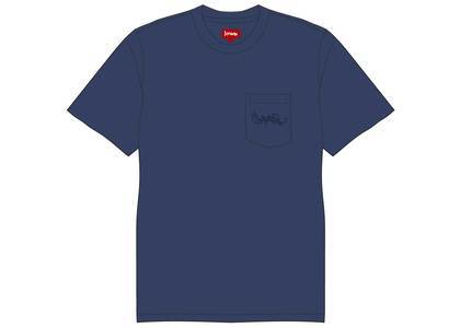 Supreme Overdyed Pocket Tee Navyの写真