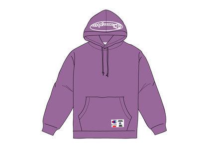 Supreme Champion Outline Hooded Sweatshirt Purpleの写真