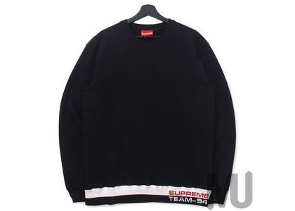 Supreme Rib Stripe Crewneck Blackの写真