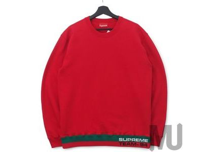 Supreme Rib Stripe Crewneck Redの写真