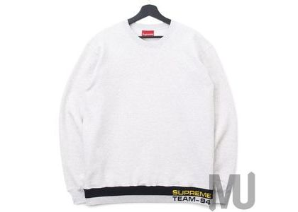 Supreme Rib Stripe Crewneck Ash Greyの写真