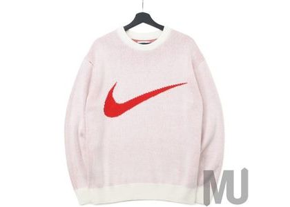 Supreme Nike Swoosh Sweater Whiteの写真