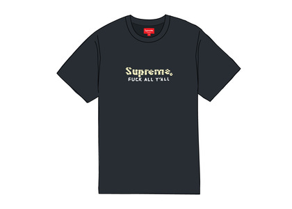 Supreme Gold Bars Tee Navyの写真
