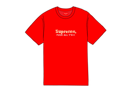 Supreme Gold Bars Tee Redの写真