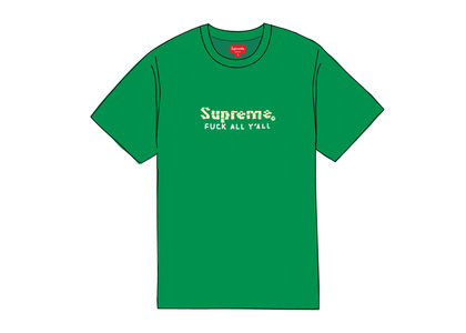 Supreme Gold Bars Tee Greenの写真