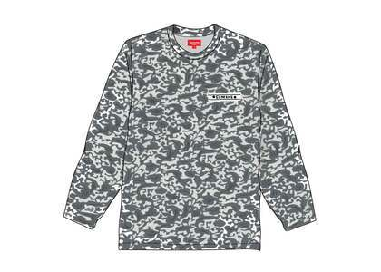Supreme Damask L-S Top Blackの写真