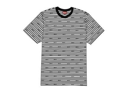 Supreme Logo Stripe S-S Top Blackの写真