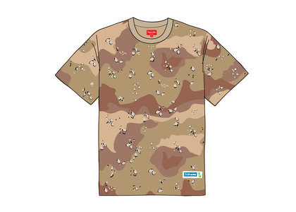 Supreme Athletic Label Tee Chocolate Chip Camoの写真