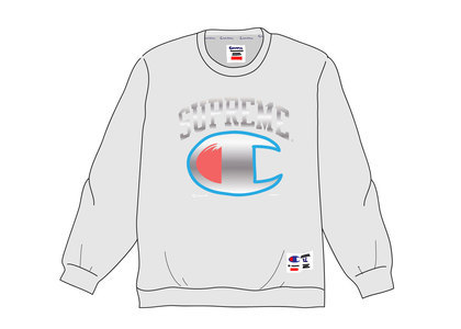 Supreme Champion Chrome Crewneck Heather Greyの写真