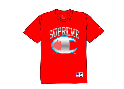 Supreme Champion Chrome S-S Top Redの写真